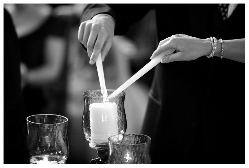 Nashville Wedding Ceremony Candle Light